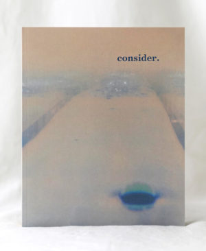 Consider Journal, first issue, the perfect bound cover